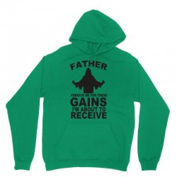father forgive me for these gains i'm about to receive tank Unisex Hoodie | Artistshot