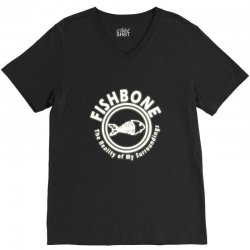 fishbone band logo V-Neck Tee | Artistshot