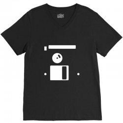 floppy disk diskette back V-Neck Tee | Artistshot