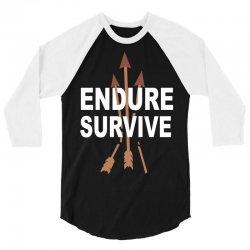 endure and survive (the last of us) 3/4 Sleeve Shirt   Artistshot