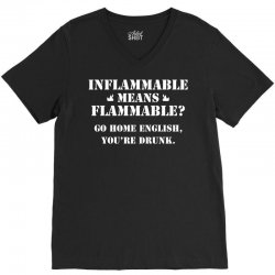 go home english you're drunk V-Neck Tee | Artistshot