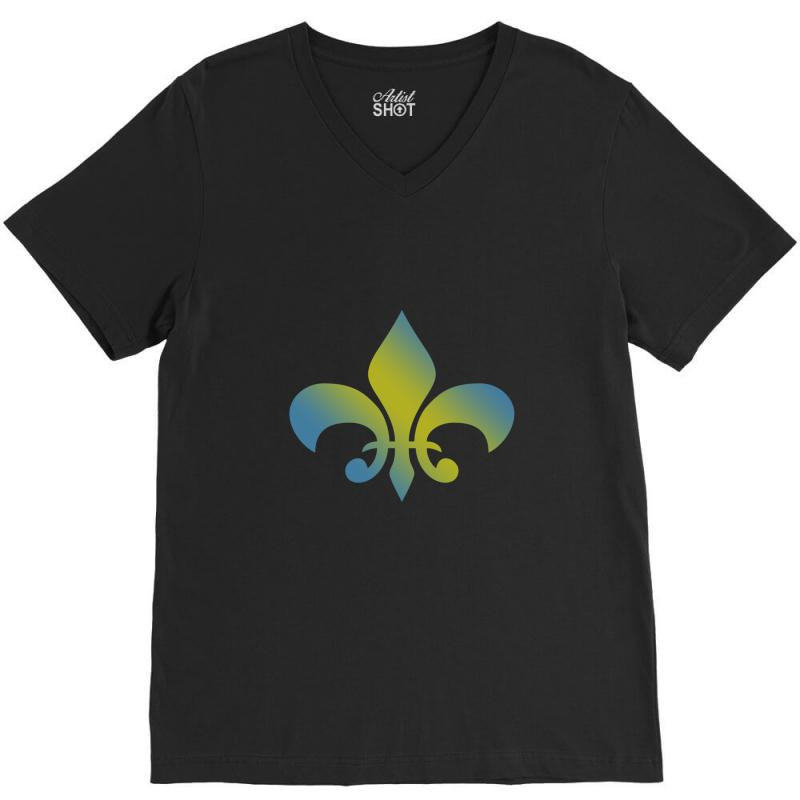 d7d1979729acc french t shirt for men women and kids vintage francais fleur des lis h V-Neck  Tee