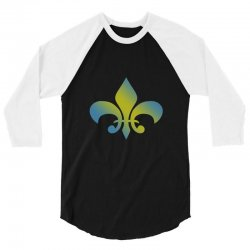 french t shirt for men women and kids vintage francais fleur des lis h 3/4 Sleeve Shirt | Artistshot