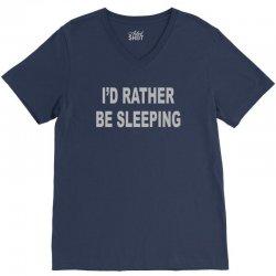 i'd rather be sleeping V-Neck Tee   Artistshot