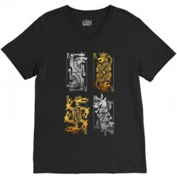 iron or gold V-Neck Tee | Artistshot
