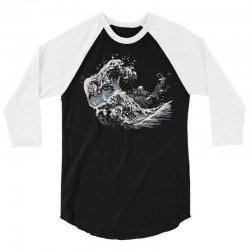 new waves 3/4 Sleeve Shirt   Artistshot