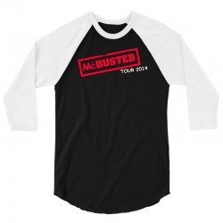 mcbusted tour 2014 hooded top busted 3/4 Sleeve Shirt | Artistshot