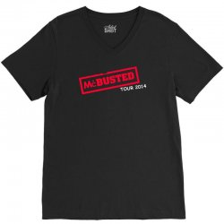 mcbusted tour 2014 hooded top busted V-Neck Tee | Artistshot
