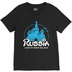 russia V-Neck Tee | Artistshot