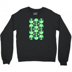 sad alien and daisy nineties grunge pattern Crewneck Sweatshirt | Artistshot