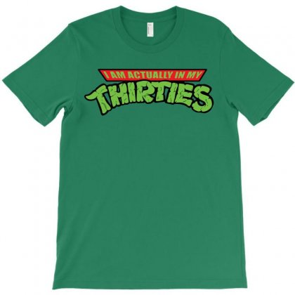 Funny Birthday Shirt I'm Actually In My Thirties Raglan 30th 30 Years Old Gift Idea For Him Or Her Years Old T-shirt Designed By Tshiart