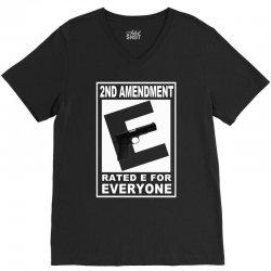 second amendment rated e for everyone V-Neck Tee | Artistshot