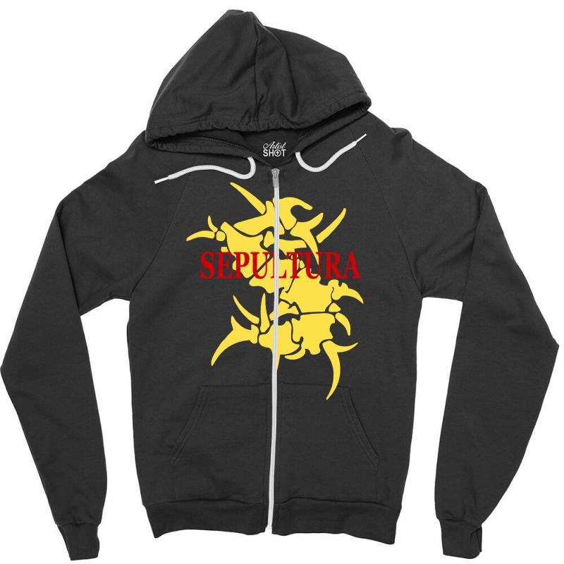 Sepultura Logo Soulfly Cavalera Conspiracy Death Thrash Metal Zipper Hoodie | Artistshot