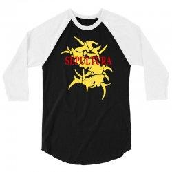 sepultura logo soulfly cavalera conspiracy death thrash metal 3/4 Sleeve Shirt | Artistshot