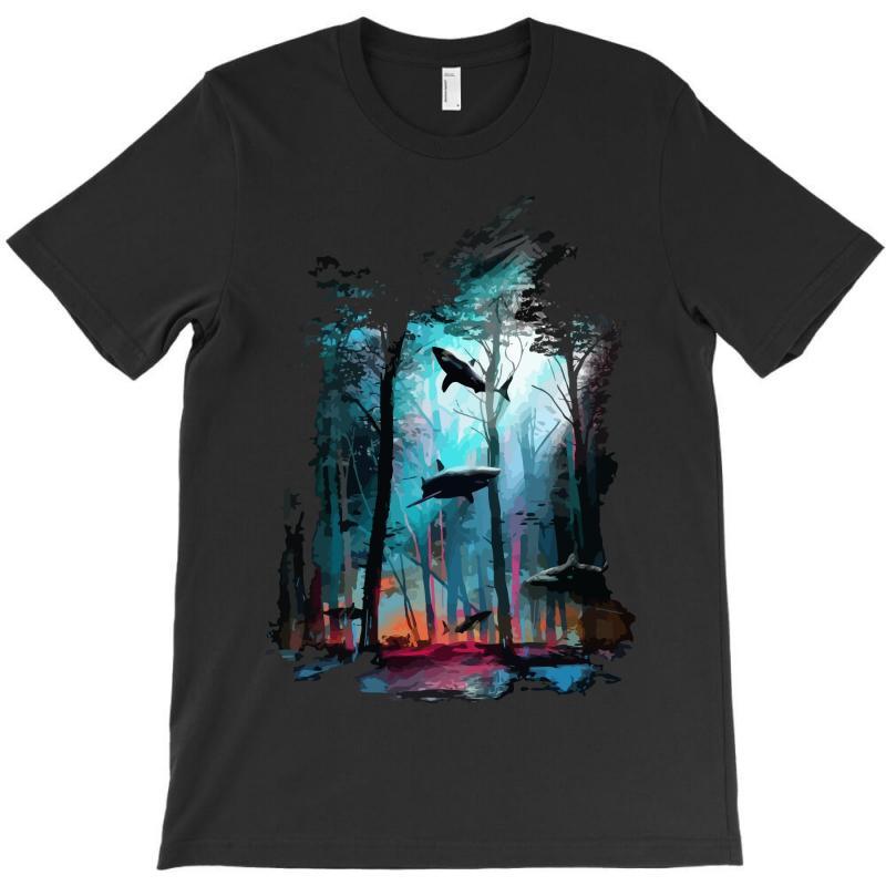 Shark Forest T-shirt | Artistshot