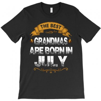 The Best Grandmas Are Born In July T-shirt Designed By Rardesign