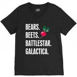 Bears Beets Battlestar Galactica V-Neck Tee | Artistshot
