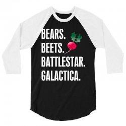 Bears Beets Battlestar Galactica 3/4 Sleeve Shirt | Artistshot