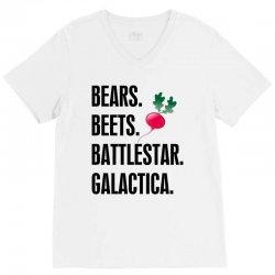 Bears Beets Battlestar Galactica V-Neck Tee   Artistshot