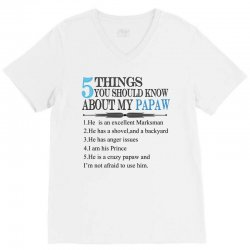 5 Things You Should Know About My Papaw V-Neck Tee | Artistshot