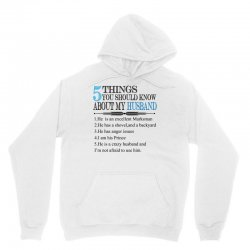 5 Things You Should Know About My Husband Unisex Hoodie | Artistshot