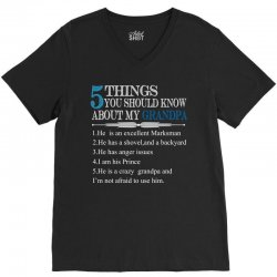 5 Things You Should Know About My Grandpa V-Neck Tee   Artistshot