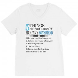 5 things you should know about my boyfriend V-Neck Tee | Artistshot