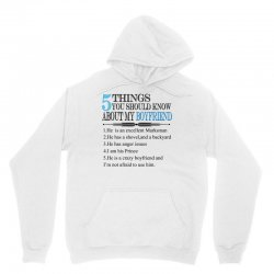 5 things you should know about my boyfriend Unisex Hoodie | Artistshot