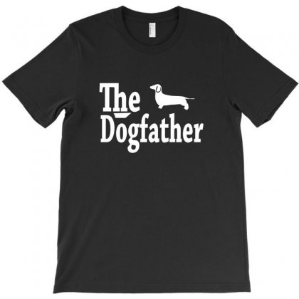 The Dogfather Dachshund T-shirt Designed By Permatasarisekar