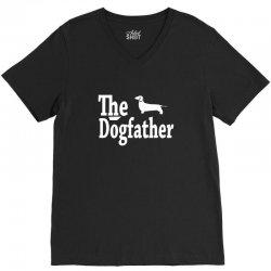 the dogfather dachshund V-Neck Tee   Artistshot