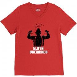 sloth unchained V-Neck Tee | Artistshot