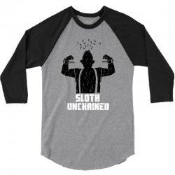 sloth unchained 3/4 Sleeve Shirt | Artistshot