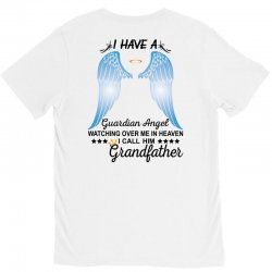 My Grandfather Is My Guardian Angel V-Neck Tee | Artistshot