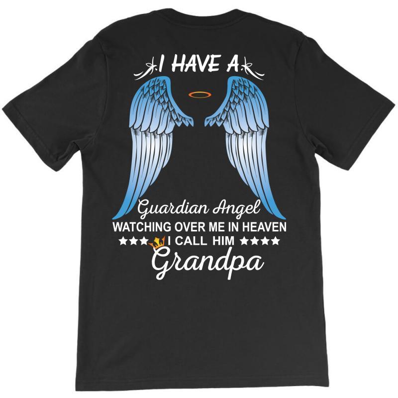 My Grandpa Is My Guardian Angel T-shirt | Artistshot