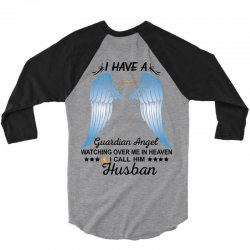 My Husband Is My Guardian Angel 3/4 Sleeve Shirt | Artistshot