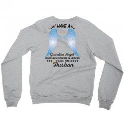My Husband Is My Guardian Angel Crewneck Sweatshirt | Artistshot