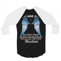 My Husband Is My Guardian Angel 3/4 Sleeve Shirt | Artistshot