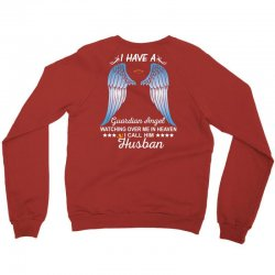 My Husband Is My Guardian Angel Crewneck Sweatshirt | Artistshot