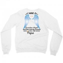 My Papa Is My Guardian Angel Crewneck Sweatshirt | Artistshot