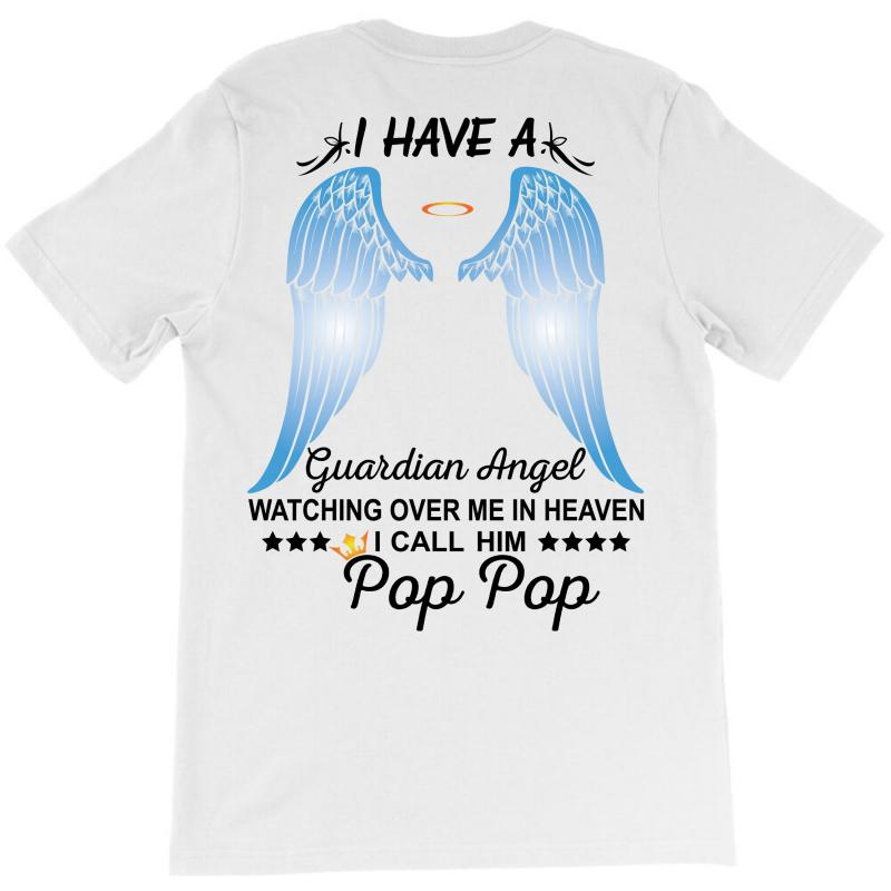 My Pop Pop Is My Guardian Angel T-shirt | Artistshot