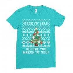 deck yo self before you wreck yo self Ladies Fitted T-Shirt | Artistshot