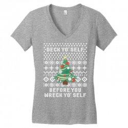 deck yo self before you wreck yo self Women's V-Neck T-Shirt | Artistshot