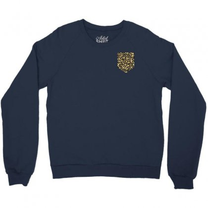 Cheetah Print Pocket Crewneck Sweatshirt Designed By Killakam