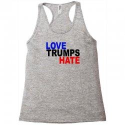 love trumps hate vote for hillary Racerback Tank | Artistshot