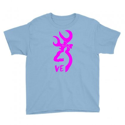 Browning Deer Love For Her Youth Tee Designed By Killakam