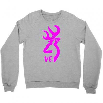 Browning Deer Love For Her Crewneck Sweatshirt Designed By Killakam