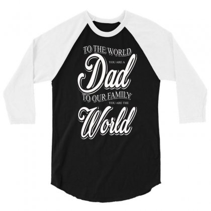 Dad 3/4 Sleeve Shirt Designed By Impossible Designs