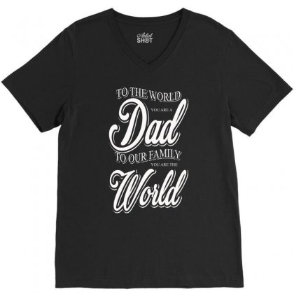 Dad V-neck Tee Designed By Impossible Designs
