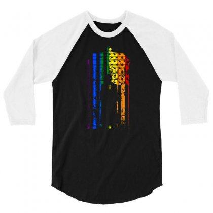 Rainbow Dr Who Tardis 3/4 Sleeve Shirt Designed By Killakam