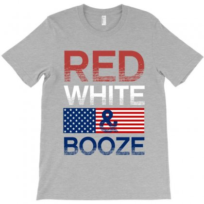 Red White And Booze T-shirt Designed By Rardesign